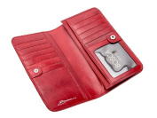 Bosca Womens Old Leather 18cm Clutch Wallet - Brick Red
