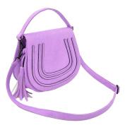 Premium Textured PU Leather Flap Saddle Crossbody Shoulder Bag