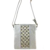 Justin West Bling Rhinestones Studded Strip Fashion Pastel Luxury Fashion Cross Body Messenger Bags Purse Handbag