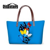 Generic Butterfly Printed Large Capacity HandBags for Women Girls Casual Tote Bags Beach Bags
