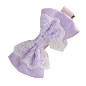 Susenstone Lace Bowknot Hair Clips Baby Girl Hairpin
