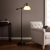 kaley Black Steel, Glass, OttLite CFL Bulb Concord Task Floor Lamp