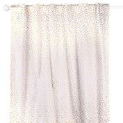 Gold Confetti Dot Print Blackout Window Drapery Panels - Two 210cm by 110cm Panels