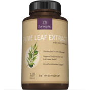 Best Olive Leaf Extract Capsules - Standardised To 20% Oleuropein - Super Strength Olive Leaf Exact Supplement Supports Healthy Immune, Skin & Cardiovascular Health - 750mg Per Capsule - 120 Capsules
