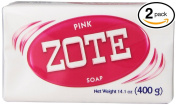 (PACK OF 2 BARS) Zote Pink Laundry Bar Soap, with Even MORE Pinkning Power & Satin Remover. Light Fresh Scent! Safe for delicate clothes!