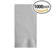 Lapaco Plain 2 Ply 1/8 Fold Grey Dinner Napkin -- 1000 per case.