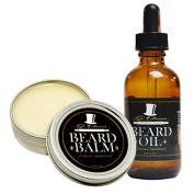 Best Sandalwood Beard Oil & Balm Conditioner Set for Men - 60ml