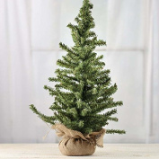 Factory Direct Craft® Tabletop Size Artificial Pine Tree in Burlap Wrapped Base for Holiday and Home Decor