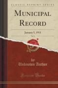 Municipal Record, Vol. 4