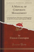 A Manual of Corporate Management