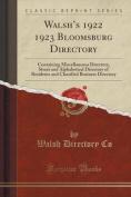 Walsh's 1922 1923 Bloomsburg Directory