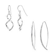 G & H Sterling Silver Figure 8 and Wishbone Earrings Set