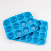 KPKitchen Muffin & Cupcake Baking Pan Set (12 & 24 Mini Cup Sizes) -BPA Free & Non Stick Dishwasher Safe BakewareTrays