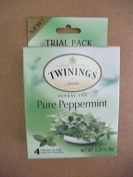 Twinings 3 Trail Packs Herbal Tea Pure Peppermint Each pack 10ml with 4 individual tea bags