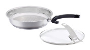 Fissler Steelux Comfort 30cm Fry Pan with Glass Lid, One Size, Black