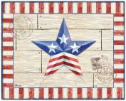Magic Slice Non-Slip Flexible Patriotic Barn Star Cutting Board, 30cm x 38cm , Multicoloured