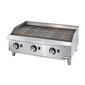 Winco GCB-36R, 90cm Spectrum Gas Char Broiler with 3 Cooking Zones