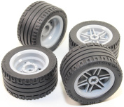 LEGO 8pc Technic Wheel and Tyre SET (Mindstorms nxt ev3 tyre) 56145 44309