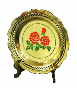 Dollhouse Golden Coloured Rose Kitchen Platter Display