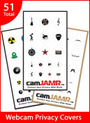 Webcam Cover / Privacy Stickers - camJAMR Variety Bundle #2