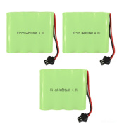 4.8V 500mAh Ni-cd Replacement Battery Part (3 Pack) Compatible with Haktoys HAK101 RC Stunt Car and HAK155 RC Buggy