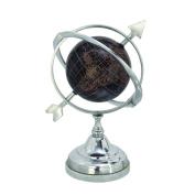 Deco 79 28498 Aluminium Marble Globe, 23cm x 30cm