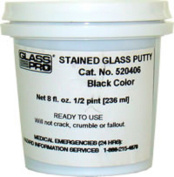 Glass Pro Stained Glass Putty Black 1/2 Pint