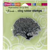 Stampendous Cling Rubber Stamp, Coral Tree