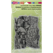 Stampendous Cling Rubber Stamp, Trailer Travel