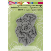 STAMPENDOUS CLING RUBBER STAMP, PANSEY SPRAY