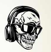 Skull Headphones Glasses Skeleton Music Rubber Stamps custom stamps rubber Rubber Stamps custom stamps rubber