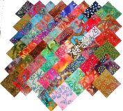50 25cm Layer Cake Batiks Quilt Fabric Squares- 50 DIFFERENT COORS - 1 OF EACH