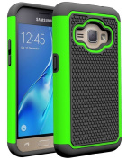 J1 2016 Case, Galaxy Amp 2 Case, Galaxy Express 3 Case, NOKEA [Shock Absorption] Hybrid Armour Defender Protective Case Cover for Samsung Galaxy J1 2016 / Amp 2 / Express 3