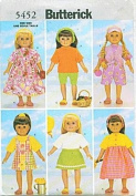 Butterick Pattern 5452 ~ 46cm Doll Contemporary Wardrobe