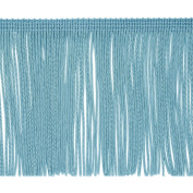 10cm Chainette Fringe Trim Light Blue Fabric By The Yard