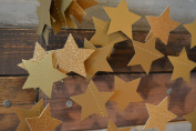Glitter Gold Sparkle Twikle Star Paper Garland for Wedding Birthday Party Baby Shower Holiday Decoration Table Wall Ceiling Decor