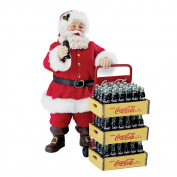 Kurt Adler Coca-Cola Santa with Delivery Cart, 27cm , Set of 2