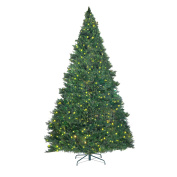 Elf Stor Premium Green Christmas Tree with 1000 Bright White LED lights 2.7m Tall