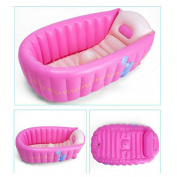 Ecity Portable Inflatable Tub Infant-to-Toddler Inflatable Bath Tub Mini Swim Pool