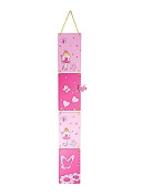 Pink Princess Wall Hanging Kids Growth Chart Height Chart for Girls Bedroom or Nursery
