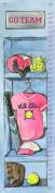 Oopsy Daisy Girl's Softball Locker by Jones Segarra Growth Charts, 30cm by 110cm