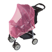 Pink Baby Mosquito Net for Strollers, Carriers, Car Seats, Cradles, Pack'n'Plays, Cribs, Bassinets & Playpens. 110cm x 120cm , High Density Baby Insect Netting