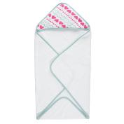 aden by aden + anais hooded towel, hearts