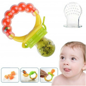 Silicone Baby Feeder Pacifier Gum Teether Nibbler with Fresh Fruits Vegetables for Feeding Toddlers. Baby Shower Gifts for boys and girls.