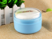 Cute PP Baby Face Body Cosmetic Powder Puff Sponge Box Case Container Kit Safety Talcum Supplies Shower