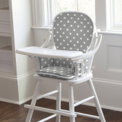 Carousel Designs Grey and White Dots and Stripes High Chair Pad
