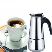 Eachbid Smart applied 2 Cup Stainless Steel Moka Espresso Latte Percolator Stove Top Coffee Maker Pot