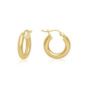MCS Jewellery 14 Karat Yellow Gold Design Hoop Earrings (Diameter