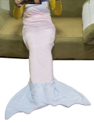 LUXEHOME Knitting Flannel Mermaid Tail Blanket CHILD & ADULT Size Available