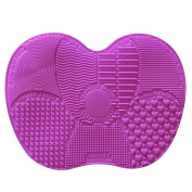 Contever® Convenient Silicone Brush Cleaner Cleaning Mat Pad Board 23*17cm